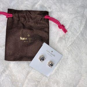 New Large Clear Stud Gumdrop Kate Spade Earrings